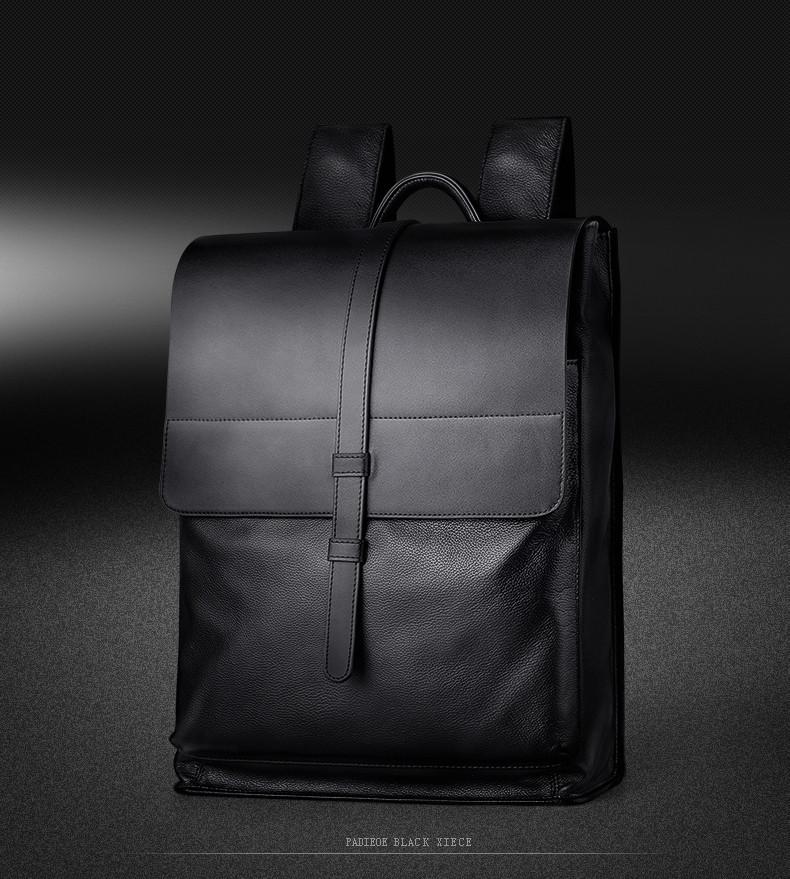 Padieoe Luxury Fashion Genuine Leather Men Backpacks Designer Brand Male Business Backpack Laptop Bag