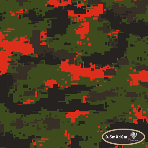 NO.HFJ0147,Width 0.5M,10m red green digital camouflage camo Water Transfer Printing Film Hydrographic Film for hydro dipping(China (Mainland))