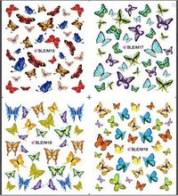 1 sheet Nice Nail Art Sticker Water Transfer Stickers Butterfly Decals Decoration DIY Beauty Manicure Foil Wraps #BLE/M15-18