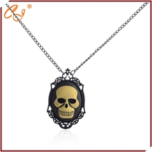 Steampunk age style Black paint picture frame factory goods straight for skull pendant necklace