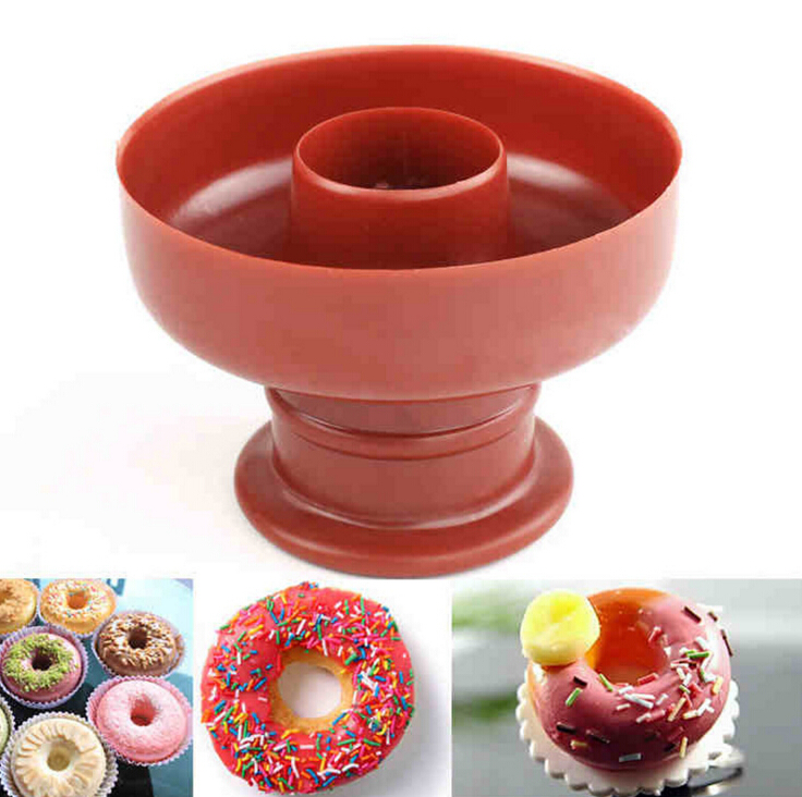 1PC Donuts Maker Mold Food -Grade Plastic Doughnuts Maker Cutter Fondant Cake Bread Desserts Bakery Mould(China (Mainland))