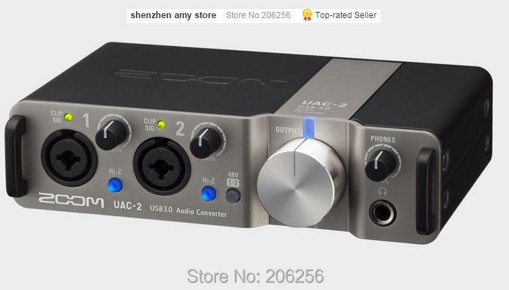 New ZOOM UAC-2 Professional recording audio interface USB3.0 high speed network k song live sound For IPAD Tablet PC recording(China (Mainland))