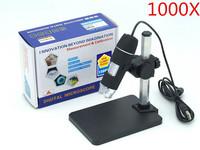 1000x USB Digital Microscope + holder(new), 8-LED Endoscope with Measurement Software usb microscope
