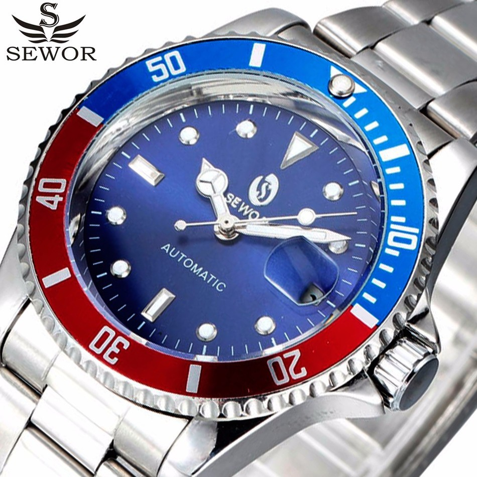 SEWOR Wristwatches Date Top Brand Luxury Sport Automatic Mechanical Watch Men Clock Army Military Watches Relogio Masculino(China (Mainland))