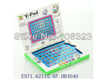 Y Pad English Computer Learning Machine, Ipad Touch Tablet, Kid learning Toy, Baby YPat Educational Toys for Children, Led Light
