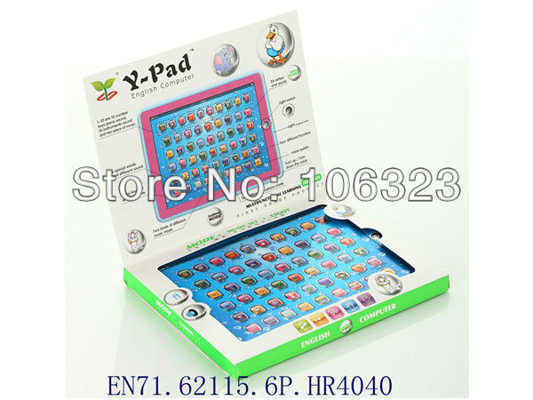 Y Pad English Computer Learning Machine, Ipad Touch Tablet, Kid learning Toy, Baby YPat Educational Toys for Children, Led Light(China (Mainland))
