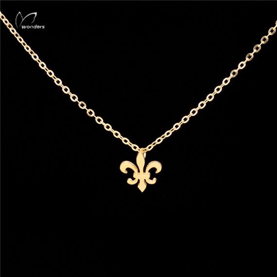 N00134 Fleur De Lis Necklace 2016 Fashion Heraldische