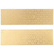 Double Dual Sided Sharpener Diamond Knife Sharpening Stone Whetstone 400# 1000# 100*30*1.2mm(China (Mainland))