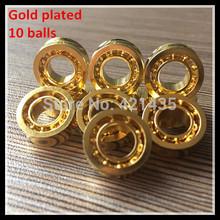 74L-13 Free shipping YOYO ball parts 10 ball R188 KK bearing KK Y 6.35 * 12.7 * 4.762mmsize R188 KKJ 24 yo yo K gold bearing(China (Mainland))