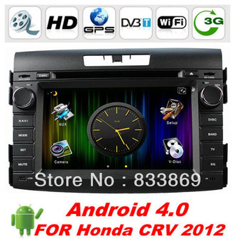 """HD 2 Din 7 """"Android4.0 car dvd GPS for Honda CRV  with CPU: Cortex A10 1.0GHZ Memory: 1GB DDR3 Wifi/3G Car pc free WIFI dongle"""