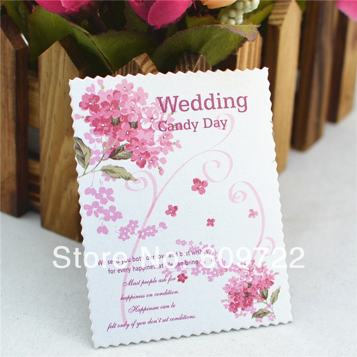 New Romantic 100pcs Wedding Decoration Lavender Card Sticker without Glue for diy Candy box / Cake Purple FL1453(China (Mainland))