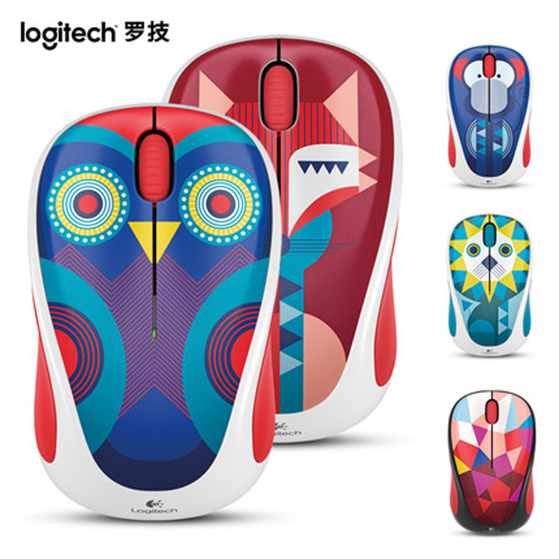 Logitech M238 Cute Animal Series 2.4G Wireless USB Wireless Optical Mouse For Desktop and Laptop(China (Mainland))