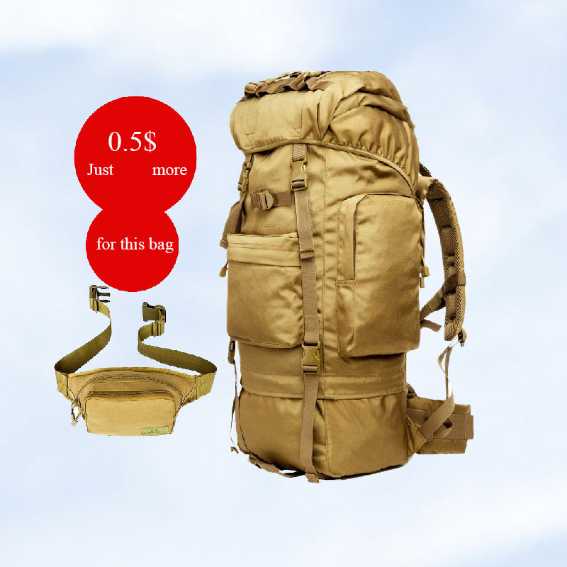 Mountaineering bag outdoor hiking travel backpack 65L waterproof - Fanmao Bags CO.,LTD store
