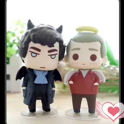 NEW hot 10cm Q version Sherlock Holmes John H Watson action figure toys doll collectors(China (Mainland))