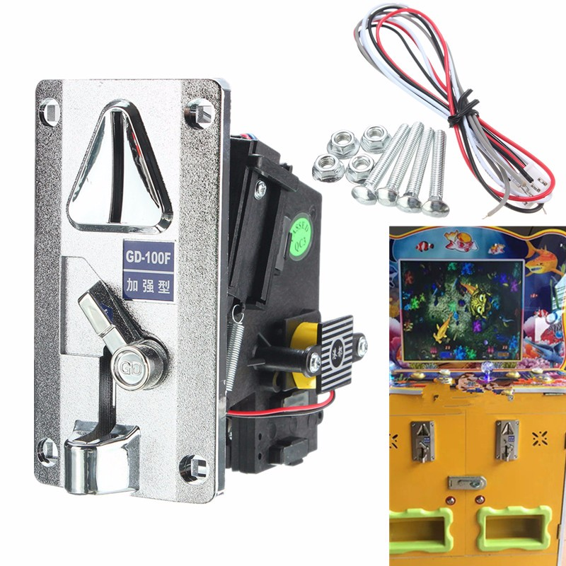 New Plastic Panel Advanced Front Entry CPU Coin Selector Coin Acceptor For Vending Machines Arcade Machines(China (Mainland))