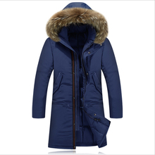 2015 New Arrival Men's Down Jacket Winter Keep Warm Coat 90% White Duck Down Long Section Jacket Coat Casual Men's Down Jacket(China (Mainland))