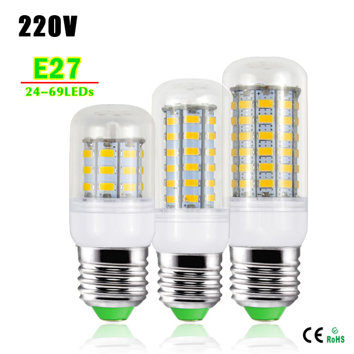 Energy Saving AC 220V E27 LED bulb lamp Replace 7W 12W 15W 20W 25W Fluorescent Light SMD 5730 24/36/48/56/69LEDs lampada led(China (Mainland))