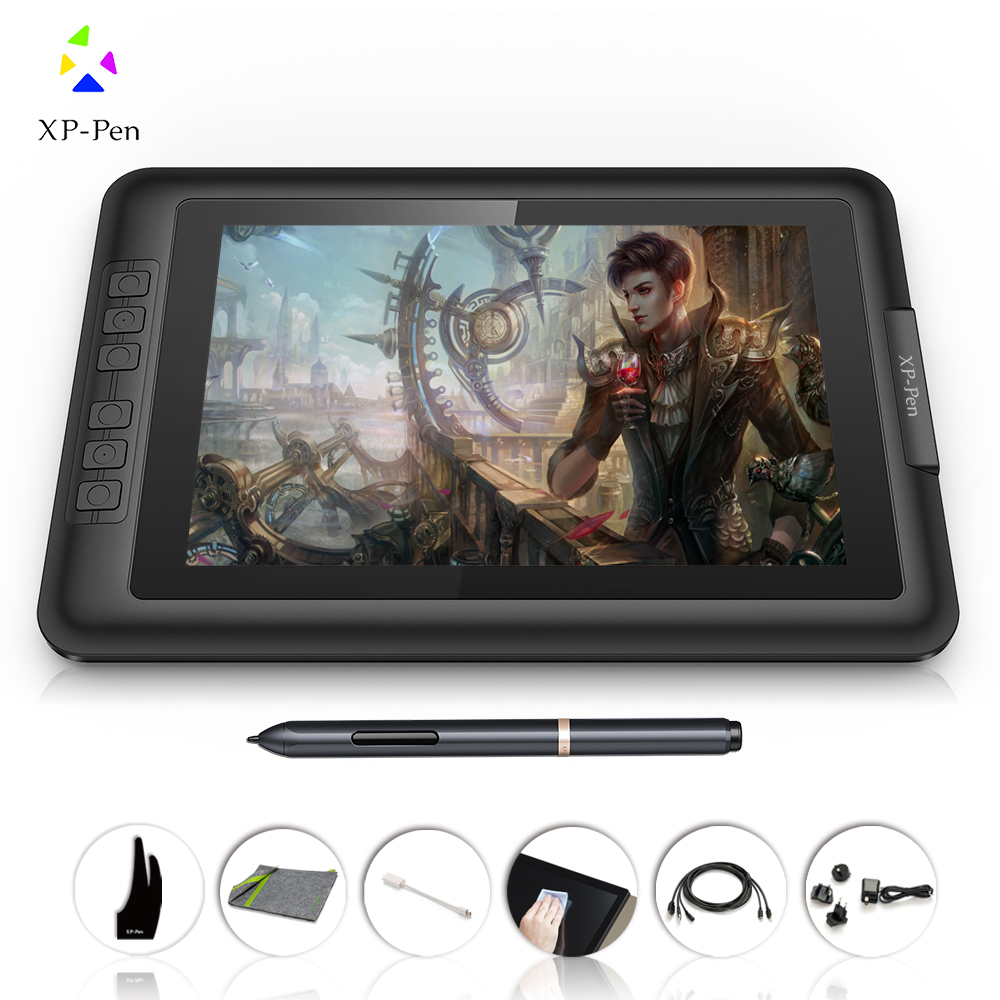 """XP-Pen Artist10S 10.1"""" IPS Graphics Drawing Monitor Pen Tablet Pen Display with Clean Kit and Drawing Glove (Black)(China (Mainland))"""