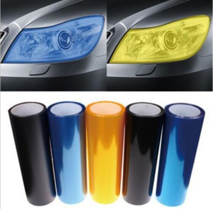 car styling 30x100cm Car Light Headlight Taillight Lamp sticker For VW Polo Ford Kuga Chevrolet Cruze Peugeot Toyota Rav4/Coroll(China (Mainland))