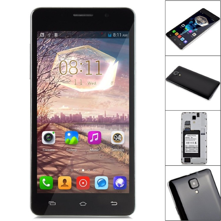 JIAKE M4 Smart Phone Android 4.4 MTK6572 Dual core 3G mobile phone 512MB+4GB 2MP Camera 5.0
