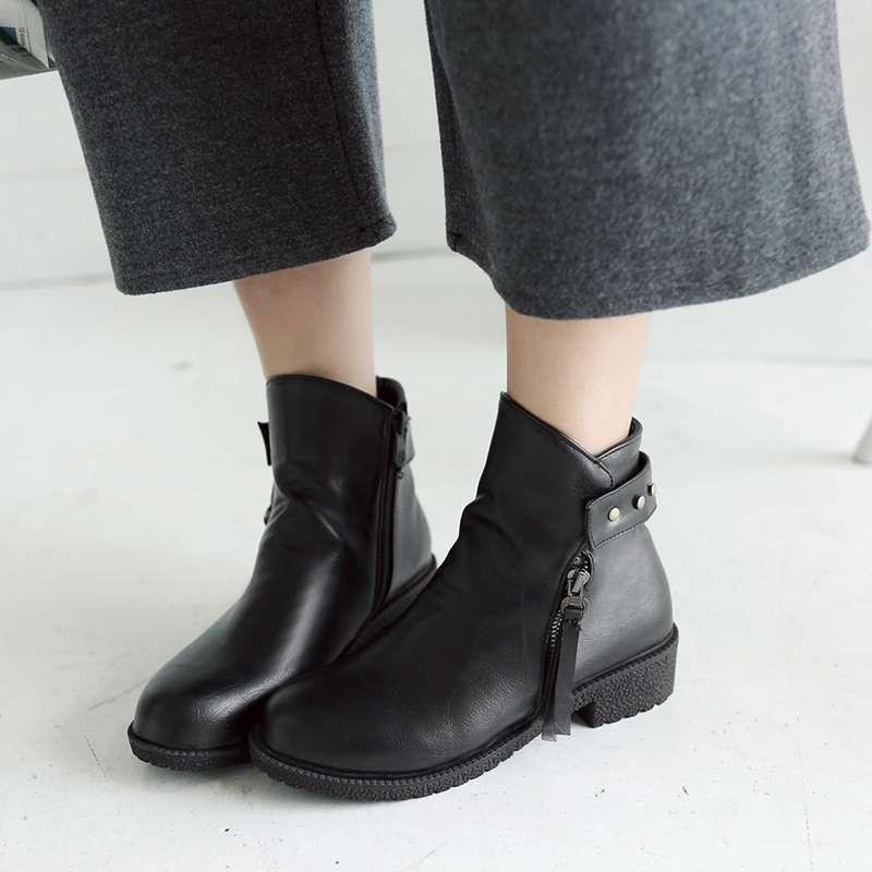 ซื้อ พลัสSize34-43 2016ใหม่เซ็กซี่ผู้หญิงฤดูใบไม้ร่วงรองเท้าข้อเท้าสั้นชุดขี่บู๊ทส์3สีฤดูหนาวเลดี้ชุดรองเท้าหิมะSBT2139