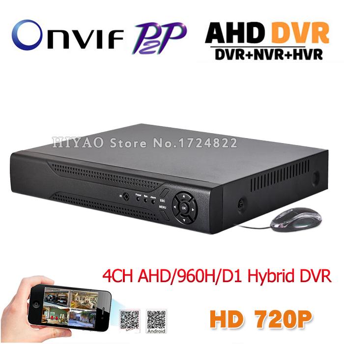 Home Security Mini CCTV DVR 4 Channel Video Recorder Full D1 Onvif P2P Cloud HD 1080P Output 8CH AHD Camera Hybrid DVR System <br><br>Aliexpress