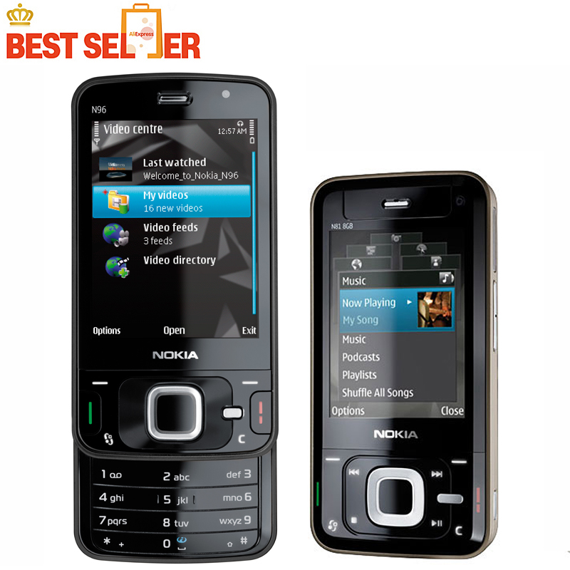 N96 100% Original mobile phone Nokia N96 Wifi GPS Bluetooth 5MP Camera Phone Unlocked GSM WCDMA(China (Mainland))