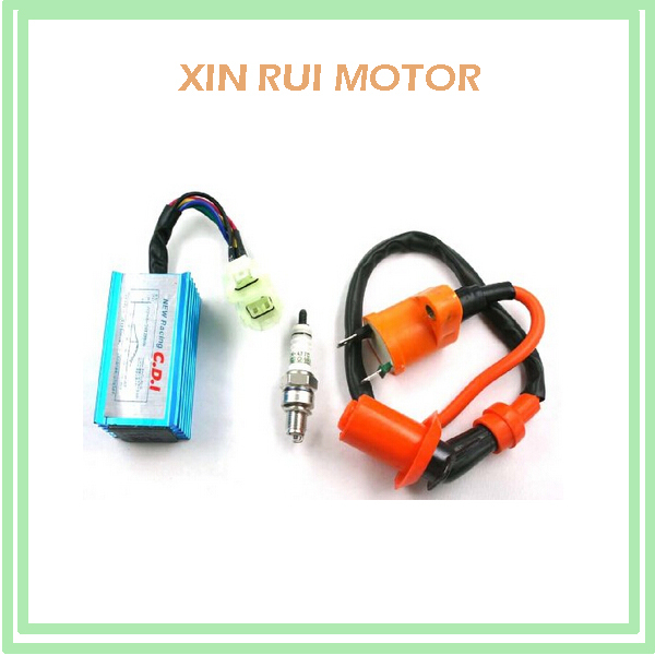 High Performance Racing Ignition Coil,Spark Plug,CDI GY6 50cc 125cc 150cc for 4-stroke Engines Scooter(China (Mainland))