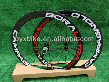free shipping!BORA ULTRA TWO CAMPAGNOLO 50mm carbon clincher road wheelset & carbon wheelset+novatec hub+spokes+skewer