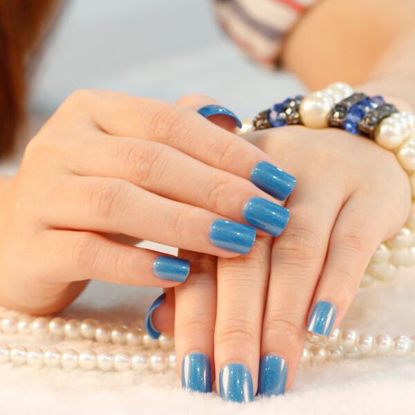 New Fashion Press On 24 Nails Fast Easy Salon Manicure ...