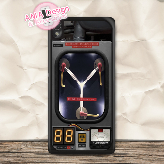 Flux Capacitor Back To The Future Case For Xperia Z5 Z4 Z3 compact Z2 Z1 Z E4 T3 T2 SP M4 M2 C3 C(China (Mainland))