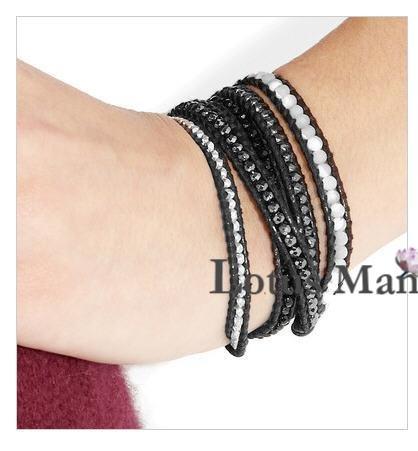 hot 925 silver nuggets Adjustable  wrap bracelet Wrap Bracelet on Leather<br><br>Aliexpress