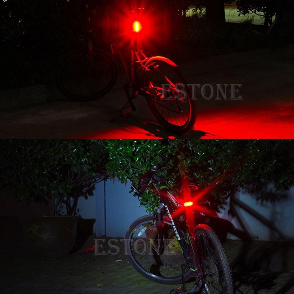 Free Shipping Red LED USB Rechargeable Head light Flash Bicycle BMC Bike Rear Tail Safety Lamp(China (Mainland))