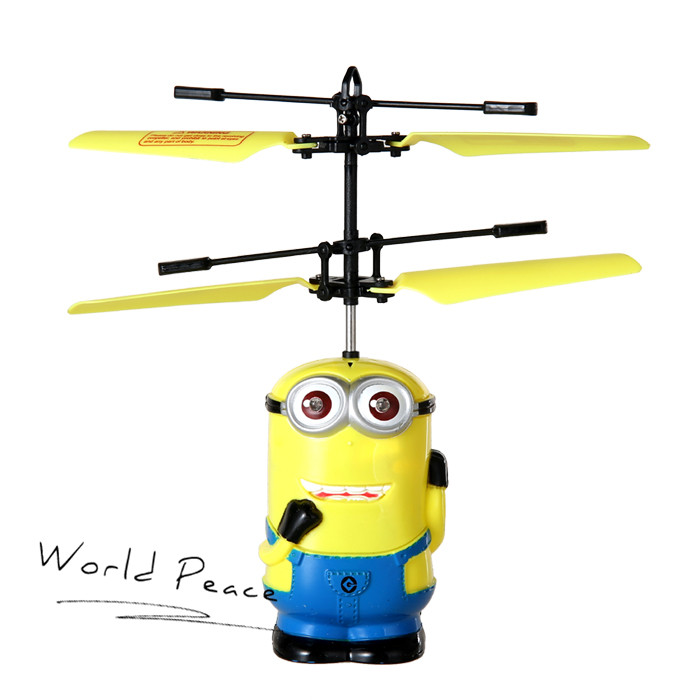 Minions Remote Control large mini electric rc helicopters drones 6ch toys for children Free Shipping Eyes Flashing(China (Mainland))