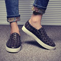 2016 Spring Autumn Men Crocodile Pattern Casual Leather Shoes Men Fashion Big Size Low Top Daily
