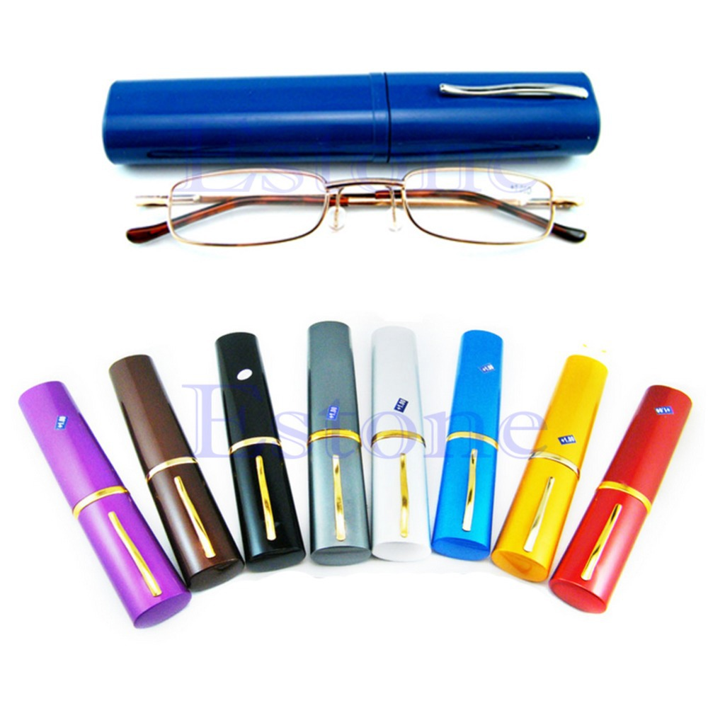 B76  New Comfy Reading Glasses Alloy Container Presbyopia 1.0 1.5 2.0 2.5 3.0 Diopter<br><br>Aliexpress