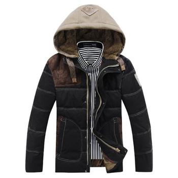 Бесплатная доставка парки для мужчин зима 2015 пальто горячая распродажа утка тонкий мода большой размер толстый мужской пуховик MC283
