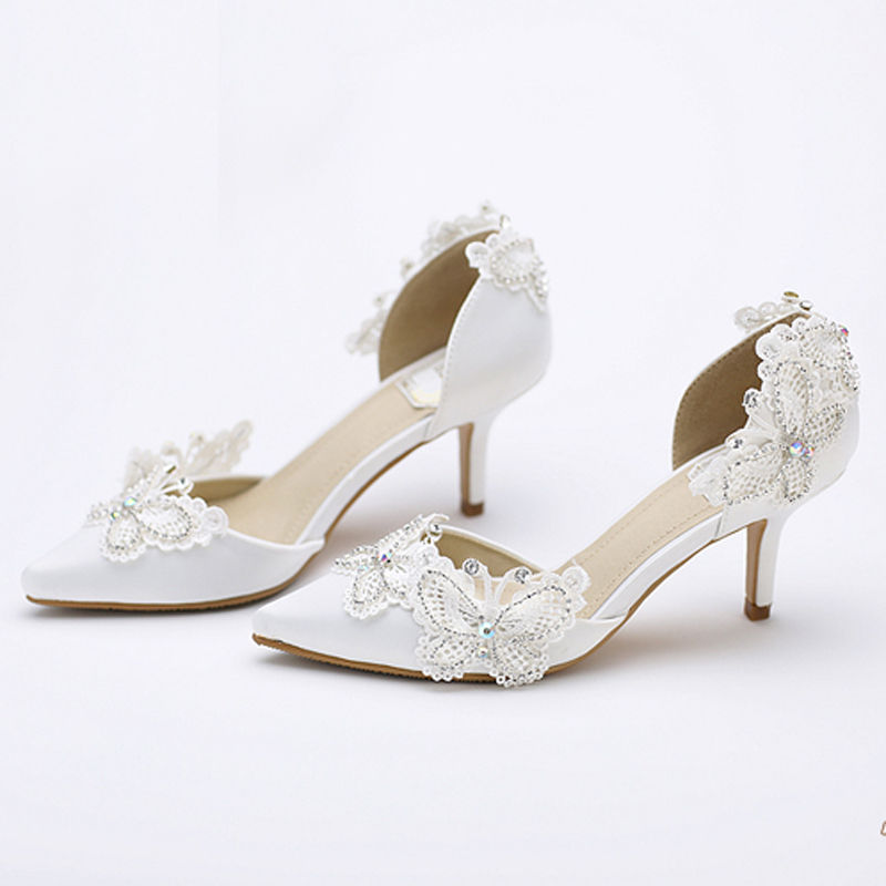 Kitten Heel Bridal Shoes