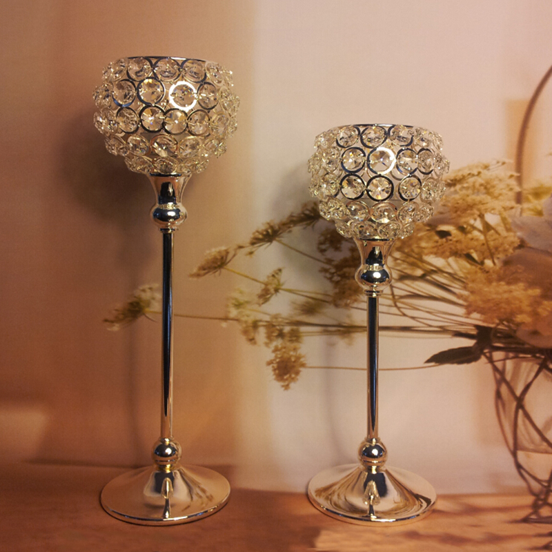 High quality candle lanterns for weddings metal silver