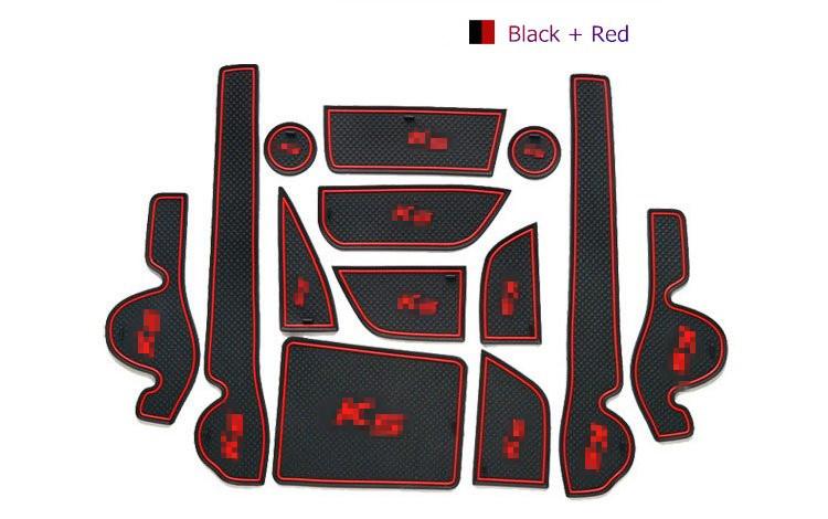 Free Shipping 3Colors 13PCS Gate Slot Rubber Car Mat/Pad Non-Slip Car Accessories For KIA K5 2011-2015 2014<br><br>Aliexpress