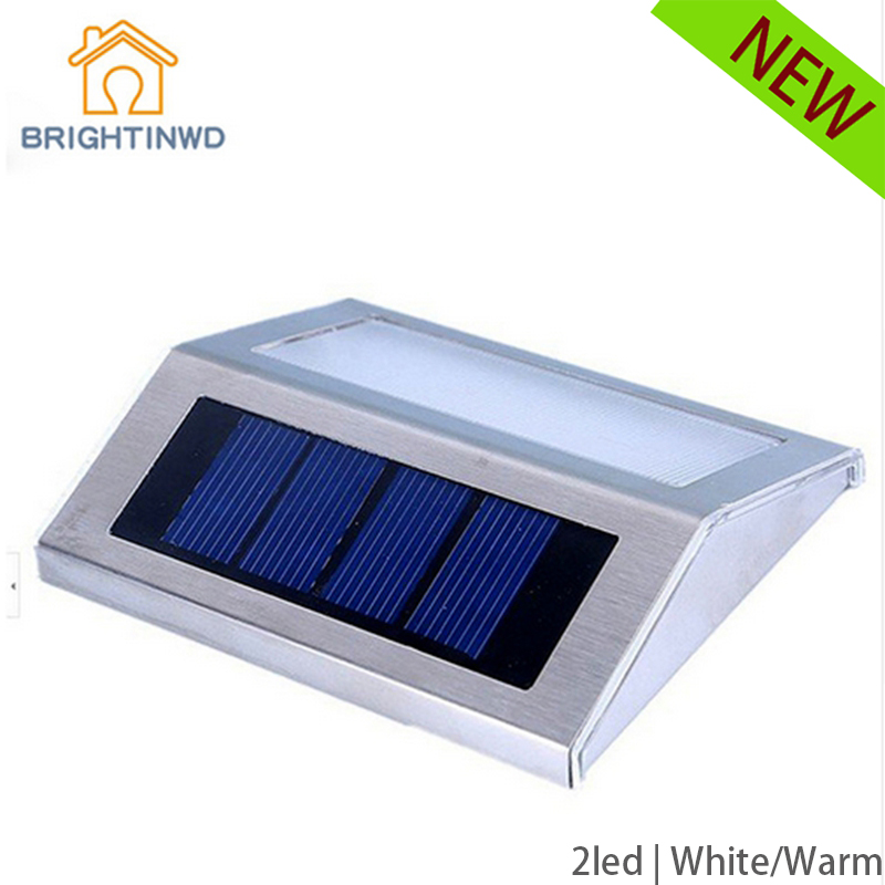 LED Solar lamp Power sconce Wireless LED Waterproof Ourdoor Light Garden Stairway Path Solar Panels Step Stair Deck(China (Mainland))