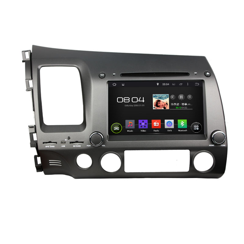 16G 1024*600 Quad Core Android 5.1.1 Fit HONDA CIVIC Left Driving 2006 - 2008 2009 2010 2011 Car DVD Player Navigation GPS Radio(China (Mainland))