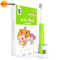 Children Ultrasonic Sonic Electric Toothbrush for kids Wireless Rechargeable IPX7 Waterproof 4 Heads DuPont material