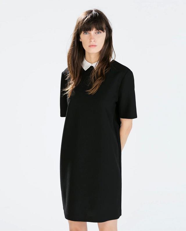 New Autumn Winter Women ZA Brand Turn-down Short Sleeve Plus Size Stra