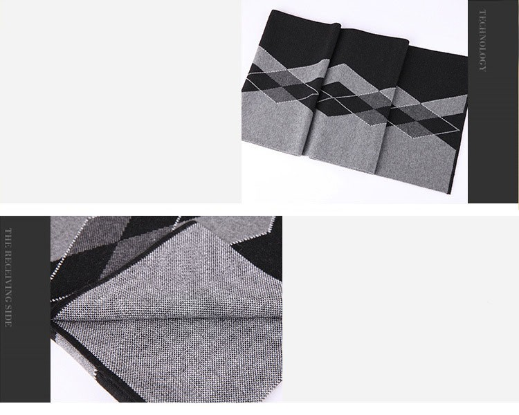 Fashion winter Scarf 100% cashmere Men Luxury Brand Big Size plaid blanket Scarves classic creative grid wool thick warm Scarves