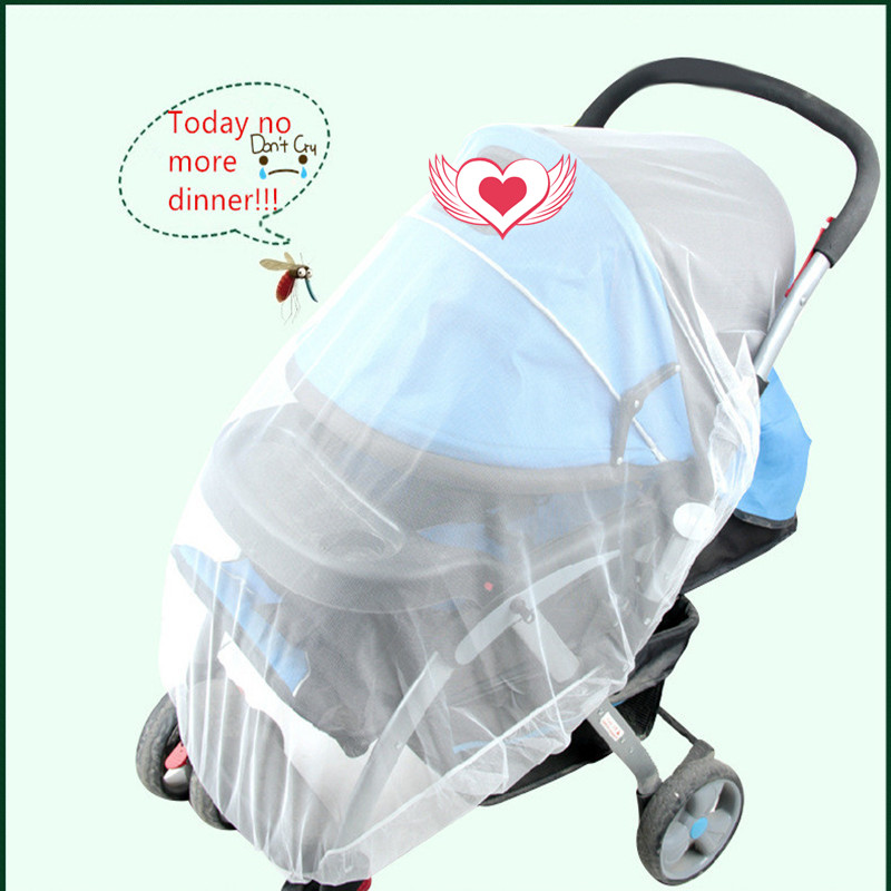 Free Shipping Baby Stroller Mosquito Insect Shield Net General Safe Infants Protection Mesh Stroller Accessories(China (Mainland))