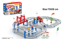 New Hot Sell 3D kids toys festive gifts Two-layer Spiral Track Roller Coaster Toy Electric Rail Car for Child Gift(China (Mainland))