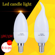 Buy 1pcs Led Candle Light Bulb E14 SMD2835 220V Energy Saving Lamp Velas Bombilla Decorativas Home Lighting Led Lamp 220V 3W 5W E14 for $1.06 in AliExpress store