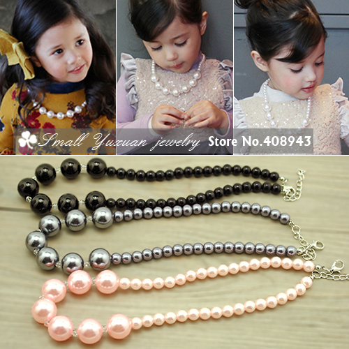Min. Order is $15 (mix order)Free shipping New women/children fashion Jewelry 5colors Chokers necklace Collar Pearl necklaces L3<br><br>Aliexpress
