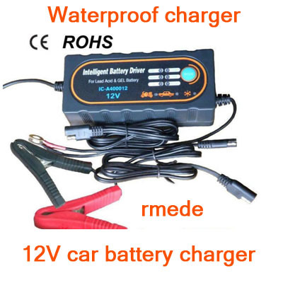 2014 Original 12V Car Battery Charger 12V Motorcycle Charger For SLA,AGM,GEL,VRLA Battery Type With 12V Waterproof ROHS IP65(China (Mainland))